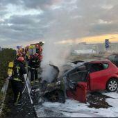 Accidente entre cinco coches en la A7.