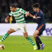 Momento del partido entre Celtic y Valencia