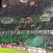 Aficionados del Celtic en el partido ante el Valencia CF