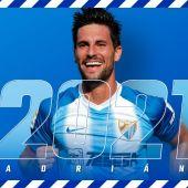 Adrián González renueva con el Málaga CF hasta 2021
