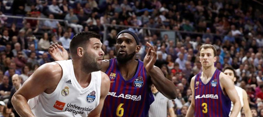 Felipe Reyes, en acción ante el Barcelona