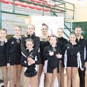 Los patinadores del Club Siluetas Elche que participaron en la prueba de nivel de Alberic.