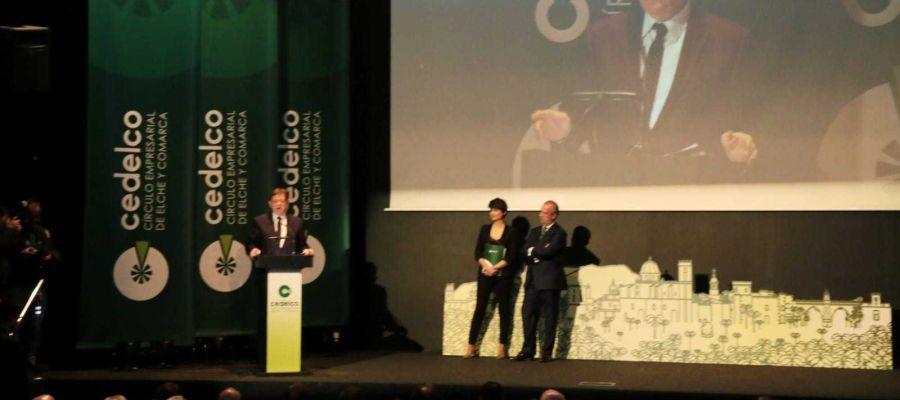 El presidente de la Generalitat en la apertura del acto de Cedelco en Elche
