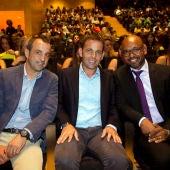 Calleja junto a Quique Álvarez y Marcos Senna