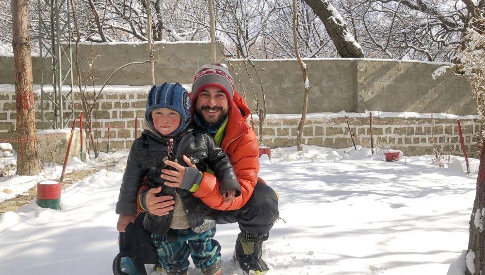Alex Txikon, en el K2