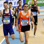 Jesús Gómez y Mariano García, atletas españoles.