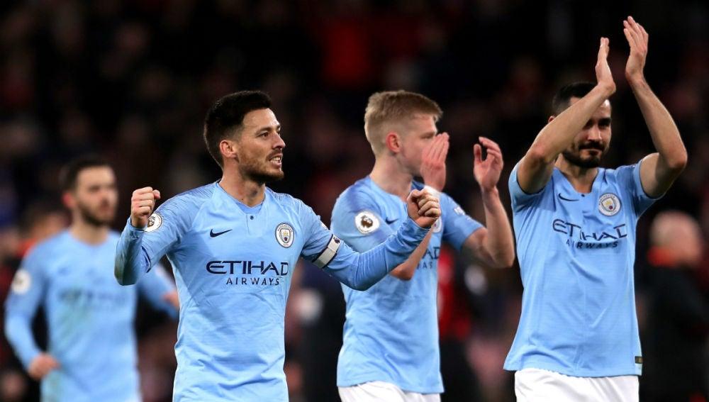 El Manchester City celebra un gol