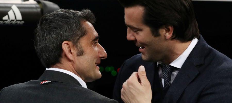 Valverde y Solari en El Clásico