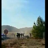 Un coche se salta un control policial en Teruel