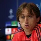 Luka Modric en rueda de prensa