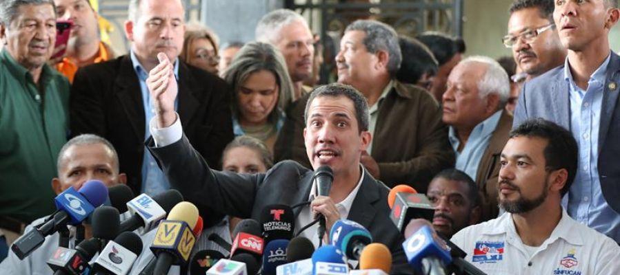 Juan Guaidó, jefe del Parlamento.