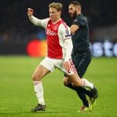 Frenkie de Jong, en el partido de ida ante el Real Madrid