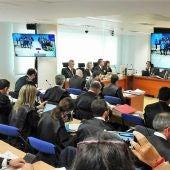 Abogados de las partes del juicio del 'caso Bruga' en la Audiencia Provincial de Elche