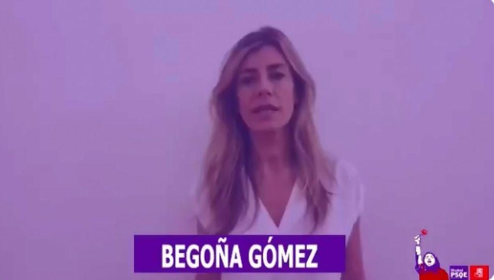 Begoña Gómez, la mujer de Pedro Sánchez, en el vídeo del 8 de marzo del PSOE-M