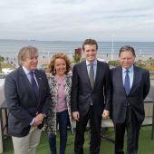 Alberto López-Asenjo, Teresa Mallada, Pablo Casado y Alfredo Canteli en Gijón