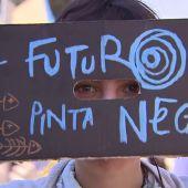 'FridaysForFuture', concentración juvenil de estudiantes contra el cambio climático