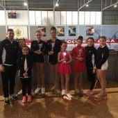 Las patinadoras del Club Siluetas Elche que participaron en la prueba del Trofeo Primavera de Cocentaina.