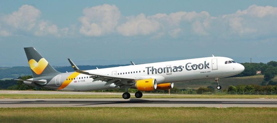Avión de la compañía Thomas Cook.