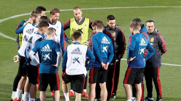 Doble sesión de entrenamiento de la Selección antes de viajar a Valencia