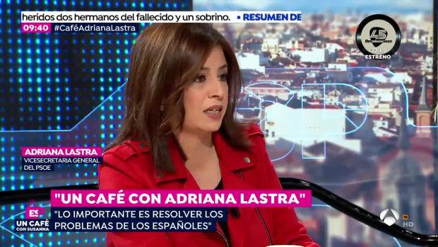 """Lastra cree que el """"tomo nota"""" de Susana Díaz no es una amenaza sino un cierre de filas alrededor de Sánchez"""
