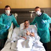 Fabián recibe el alta tras estar tres días ingresado por gripe A