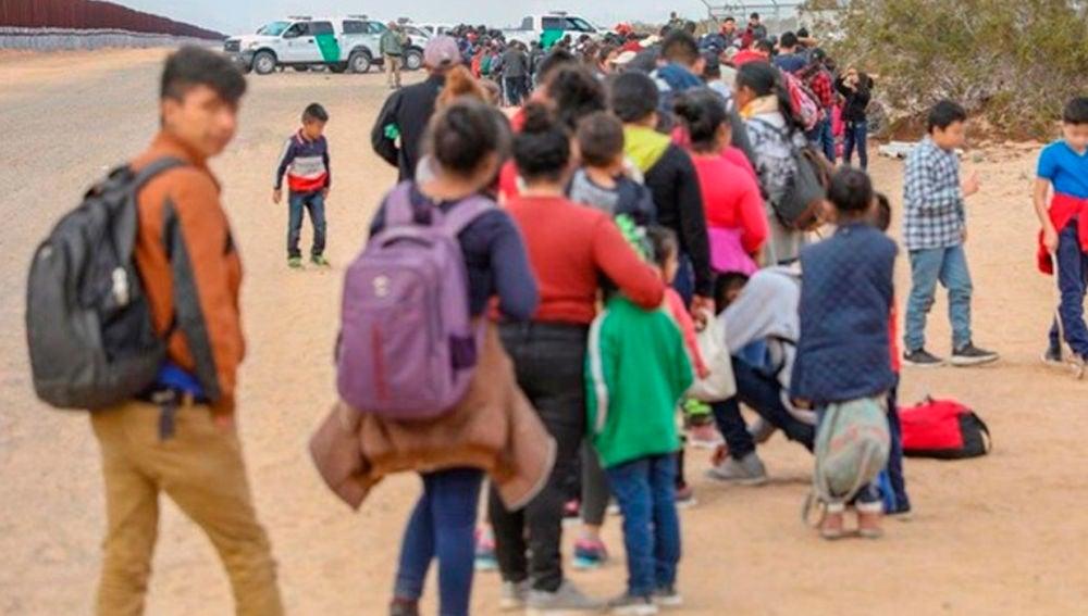 Inmigrantes en las playas