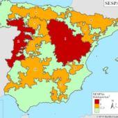 Mapa de la despoblación