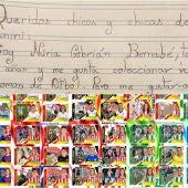 La carta viral para conseguir un álbum de cromos de fútbol femenino