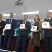 La Policía Nacional de Ciudad Real ha recibido 5 desfibriladores por parte de la Diputación