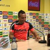 Santi Cazorla en rueda de prensa