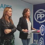 Marta González y Rosa Romero, durante la rueda de prensa en Ciudad Real
