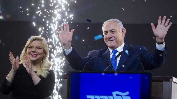 Benjamin y Sara Netanyahu.
