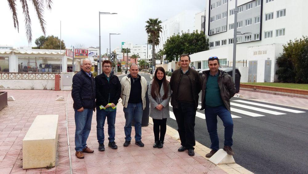 Representantes de ACOTUR y de la Asociación de Hoteleros de la Playa de Palma