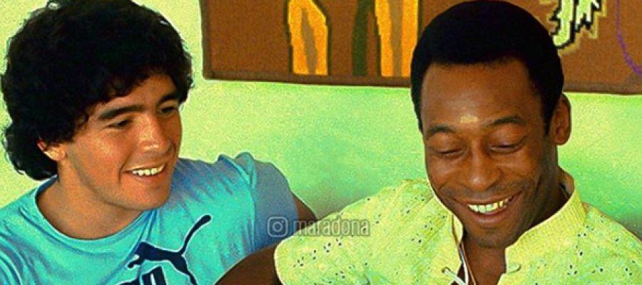 La foto que Maradona ha compartido junto a Pelé