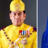 Imagen del príncipe de Malasia y su prometida