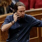 Pablo Igleisas durante una llamada en el Congreso