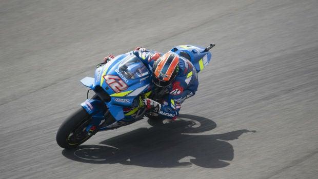 Alex Rins, con la Suzuki