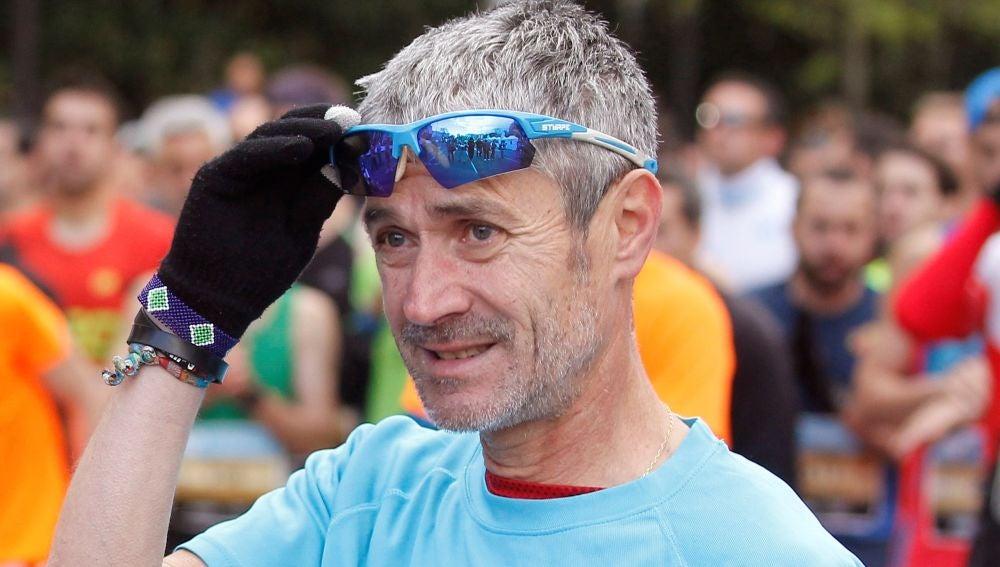 Martín Fiz, durante la prueba