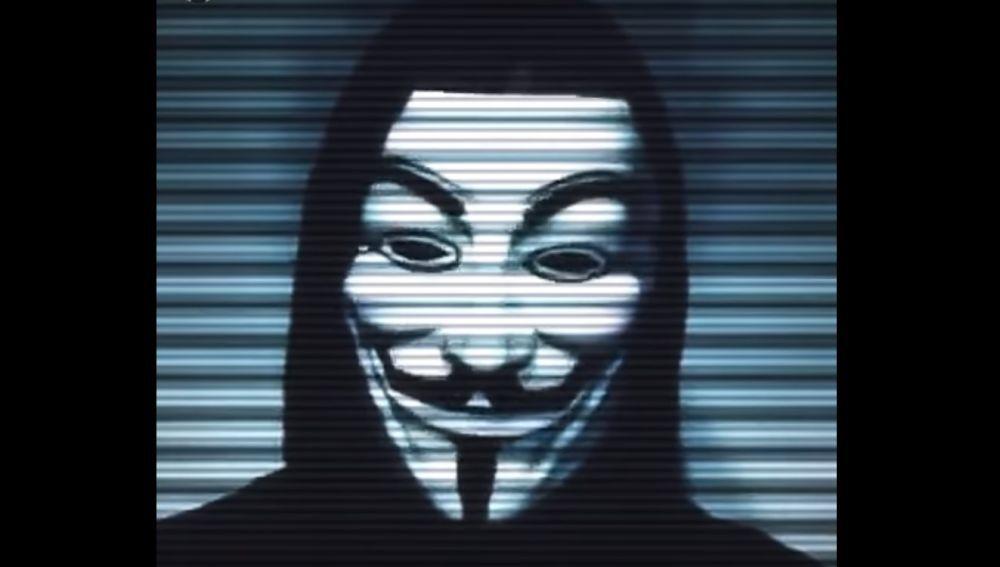 Captura de un vídeo de Anonymous.