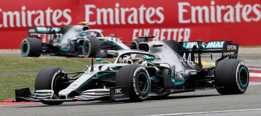 Lewis Hamilton, durante el GP de China
