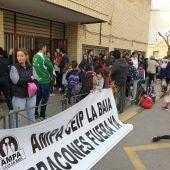 CEIP La Baia protestas
