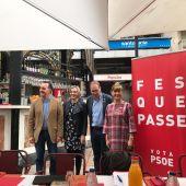 El PSOE ha realizado hoy un acto de campaña.