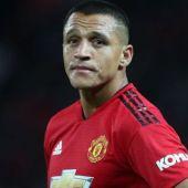 El delantero del United, Alexis.