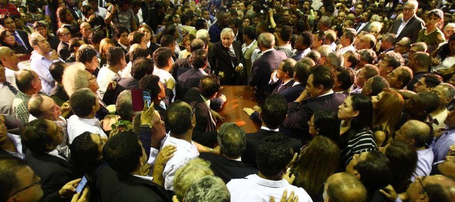 El féretro del ex presidente Alan Garcia