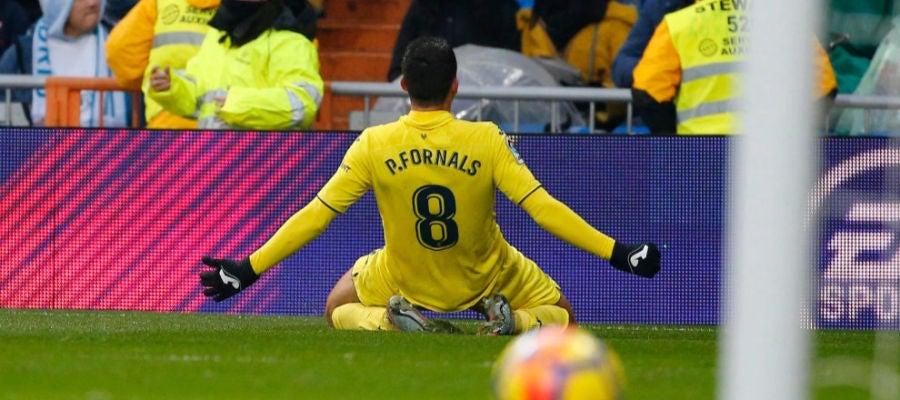 Fornals celebra su gol en el Bernabeu