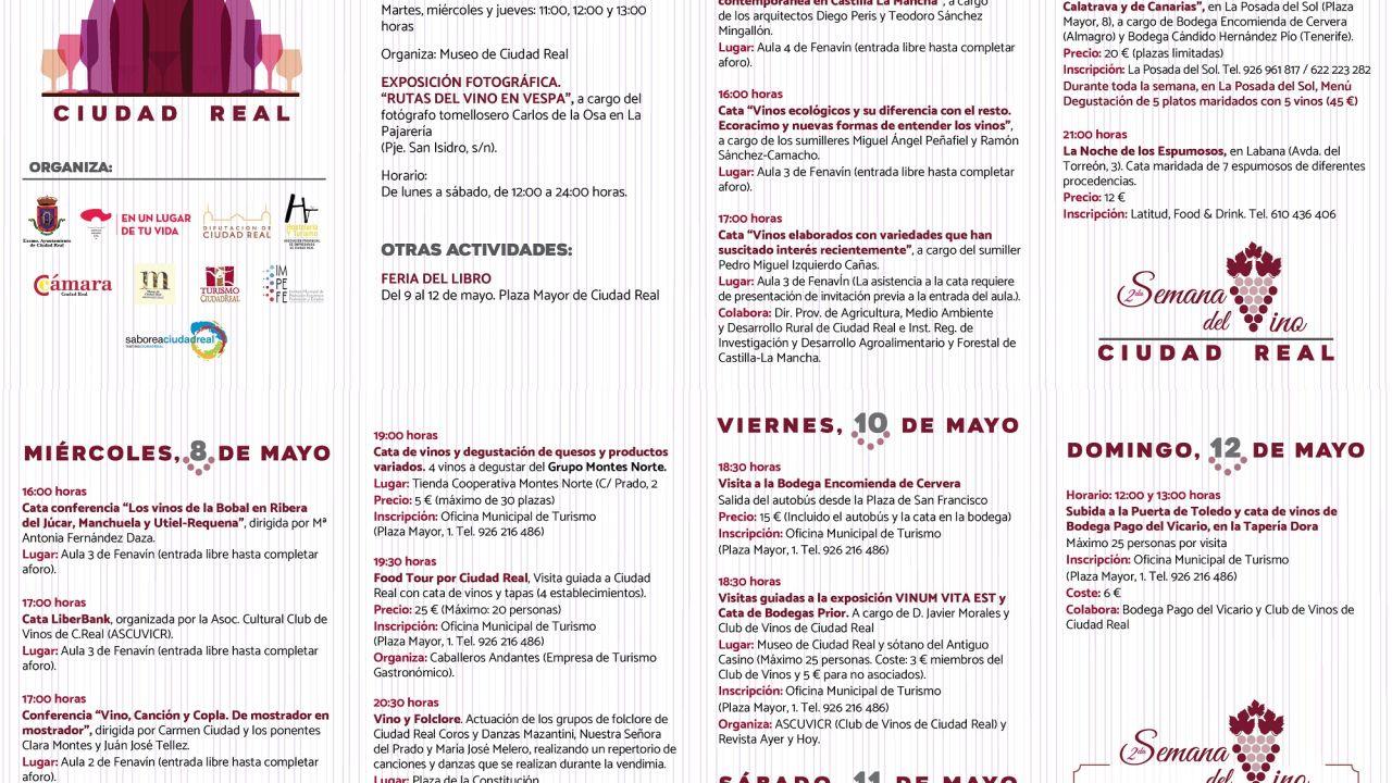 El lunes comienza en Ciudad Real la Semana del Vino en