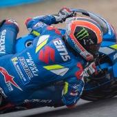 Álex Rins, en una curva del circuito de Jerez