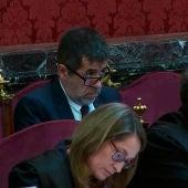 """Jordi Sànchez durante una nueva jornada del juicio del """"procés"""""""