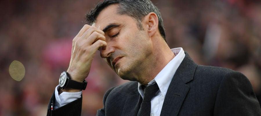 Ernesto Valverde lamenta la derrota del Barcelona