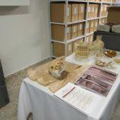 Parte de los restos arqueológicos encontrados en el Mercado Central de Elche.